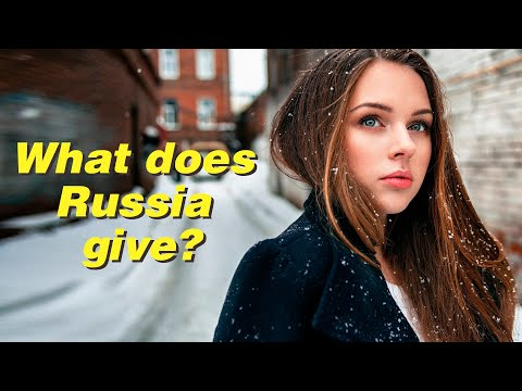 What does Russia give to the world besides oil and gas?