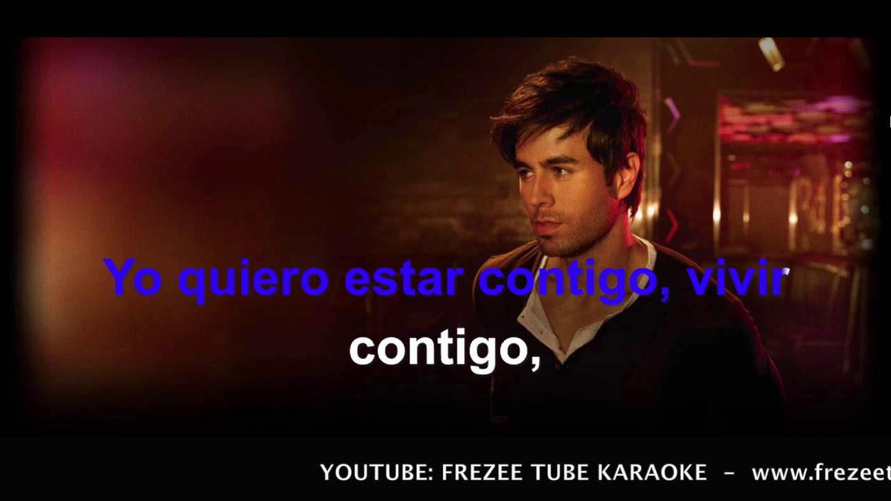 Enrique Iglesias Bailando Karaoke Con Testo Youtube