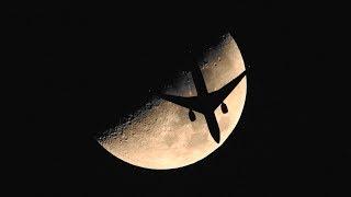月面Xと飛行機3機の月面通過 thumbnail