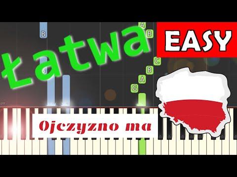 🎹 Ojczyzno ma - Piano Tutorial (łatwa wersja) 🎹