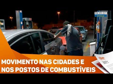 Movimento nas cidades e nos postos de combustíveis - TV SOROCABA/SBT