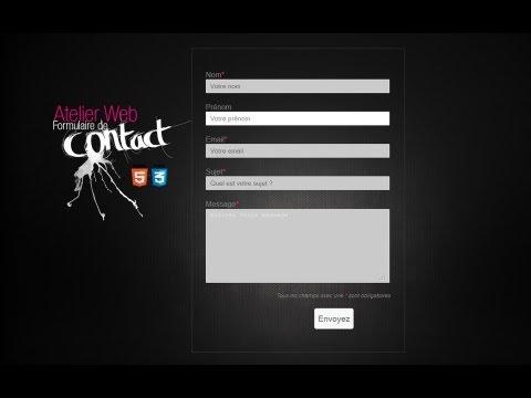 Tuto Dreamweaver Formulaire De Contact Graphique Envoi En Php