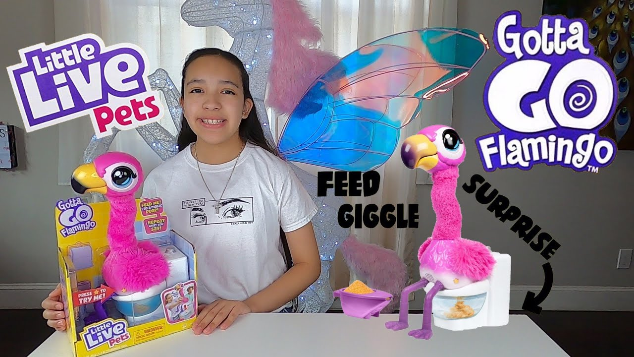 LITTLE LIVE PETS GOTTA GO FLAMINGO SHERBET FROM MOOSE TOYS UNBOXING