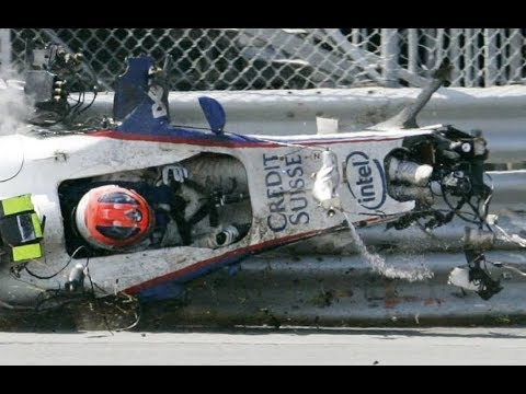 robert kubica brutal crash canada 2007 F1