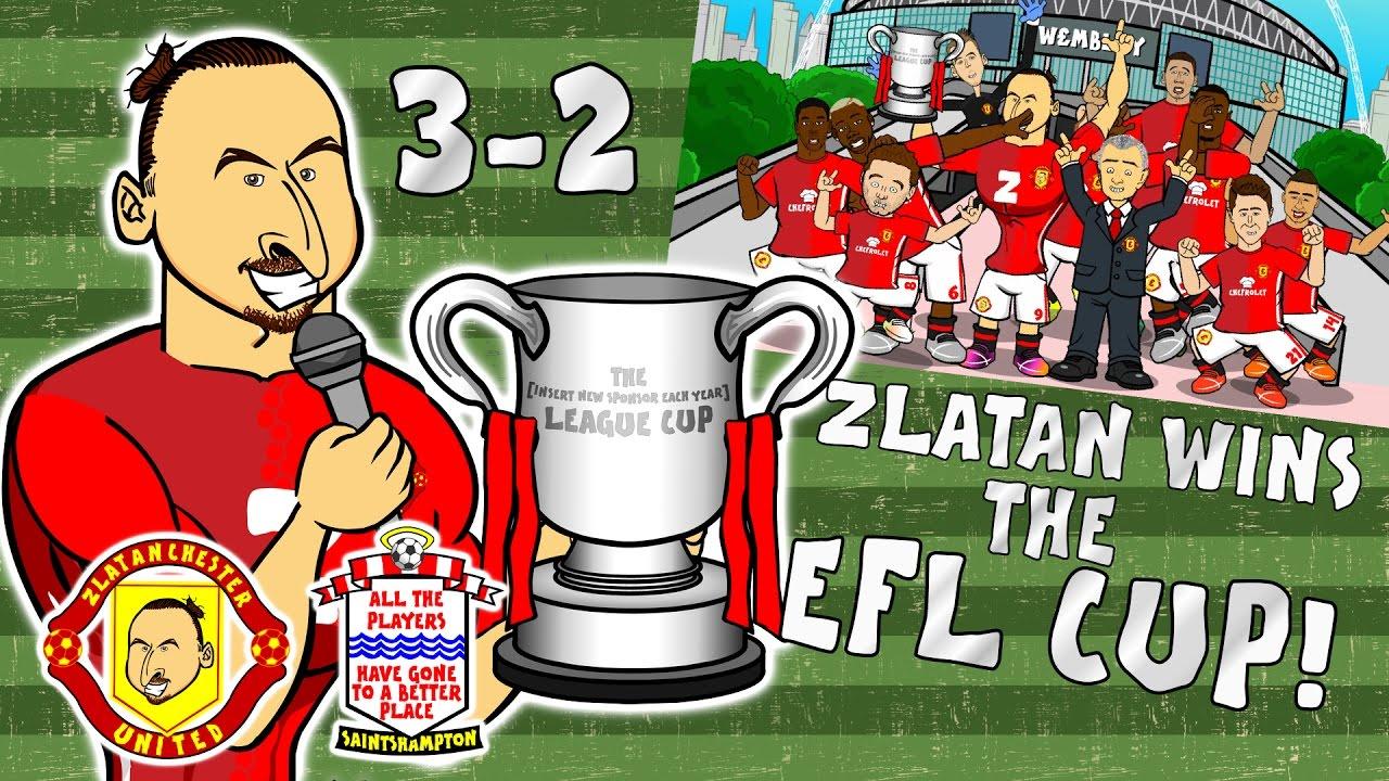 Download 🏆ZLATAN WINS THE EFL CUP🏆 Man Utd 3-2 Southampton (Final Parody Goals and Highlights 2017)