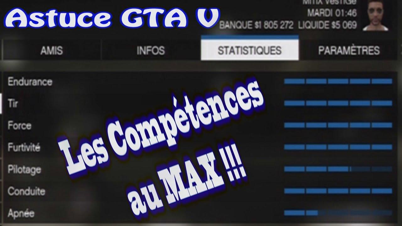 ASTUCE GTA V : COMMENT AUGMENTER RAPIDEMENT TOUTES LES COMPÉTENCES AUX MAX ?!