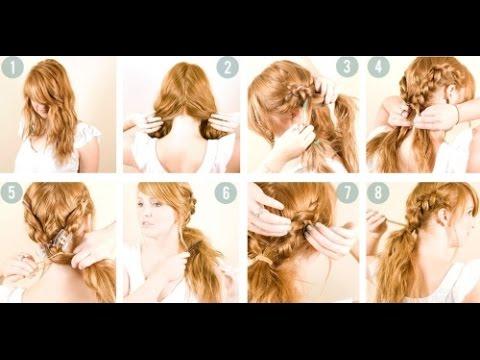 Как заплести лёгкую и красивую причёску