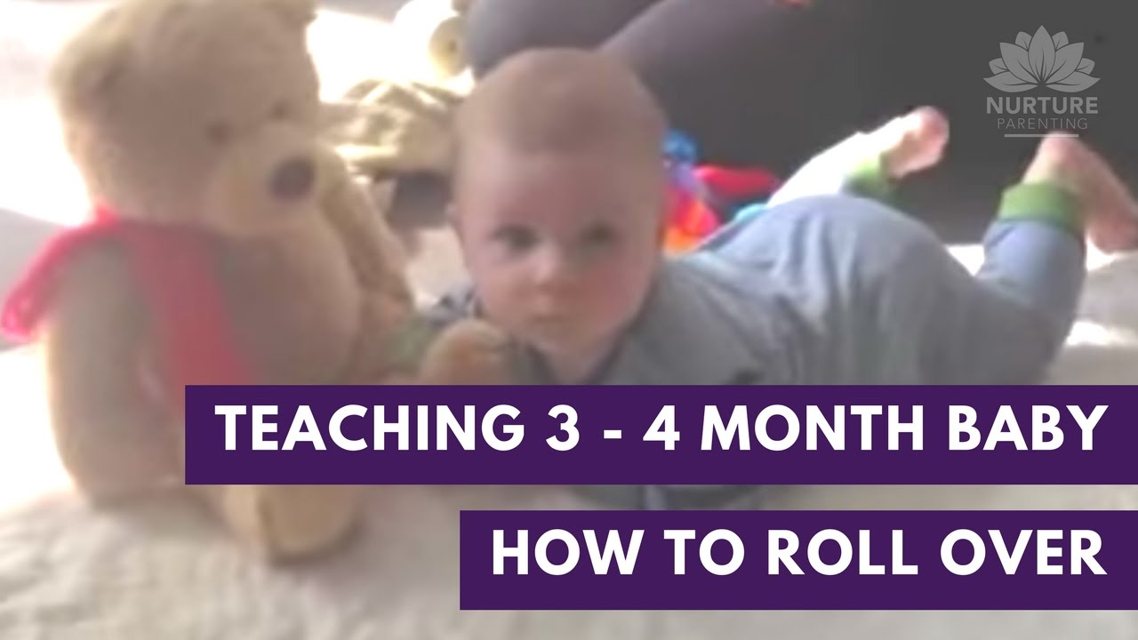 2d3f880cc Teaching your 3 - 4 month old baby how to roll over - watch Abigail ...