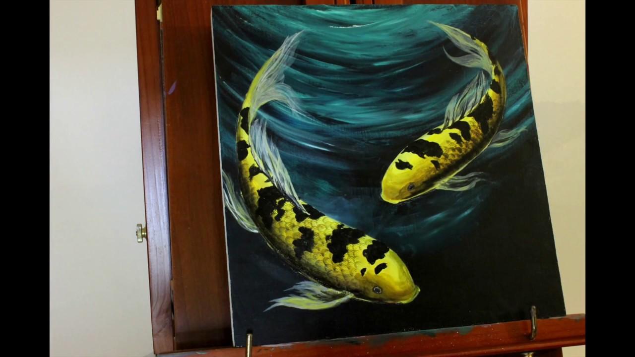 How To Paint Koi Fish Acrylic
