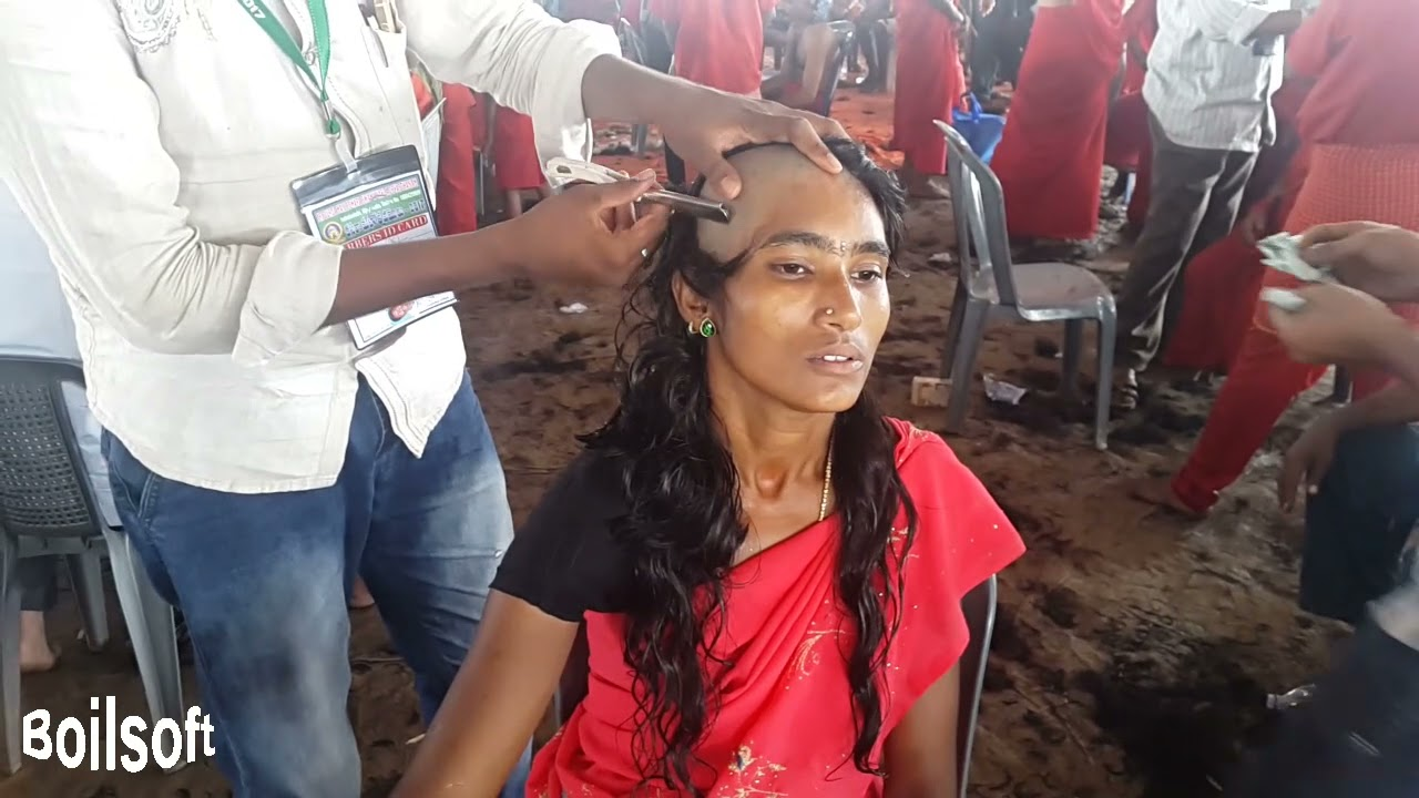 RED SAREE LADY HEADSHAVE