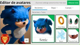 WE CREATE THE PROFILE OF SONIC PELICULA in ROBLOX SPANISH SONIC PELICULA ROBLOX PROFILE LEON PICARON