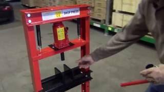 SwitZer Hydraulic Floor Workshop Garage Shop Press 12 Ton Tonne
