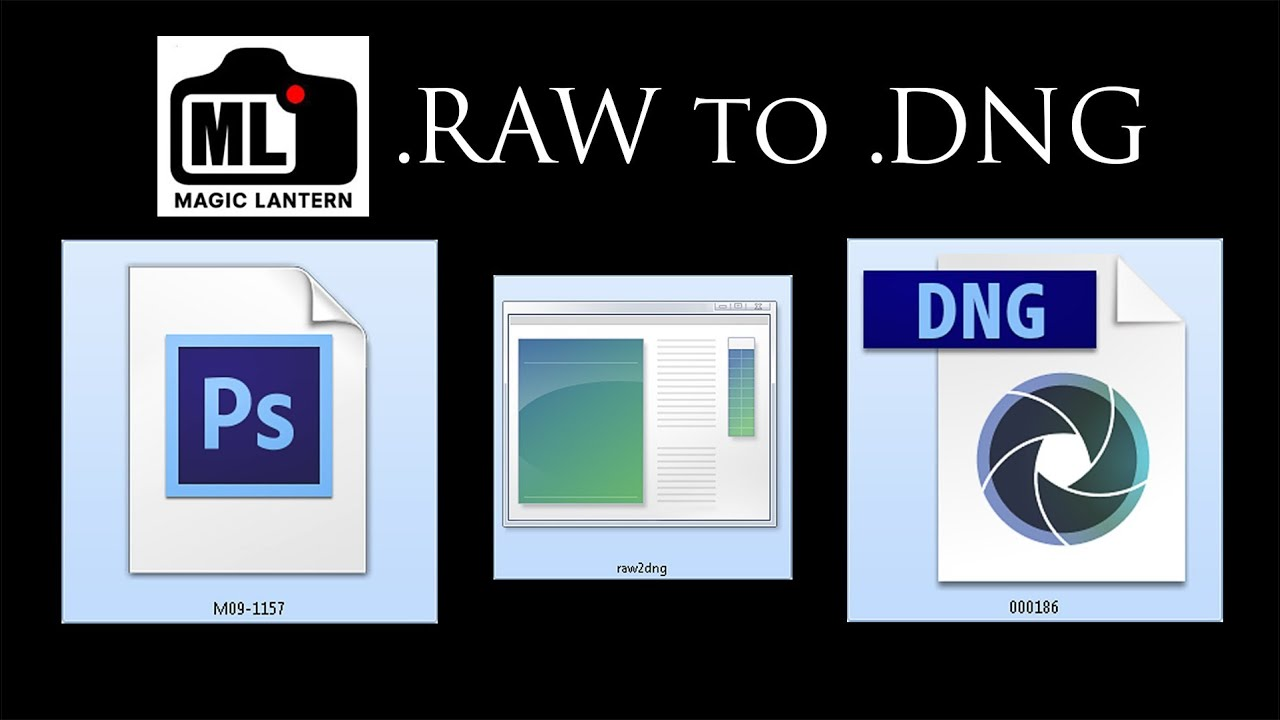 The easy way to convert  RAW movie data to  DNG