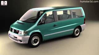 Mercedes-Benz Vito (W638) Passenger Van 1996 by 3D model store Humster3D.com