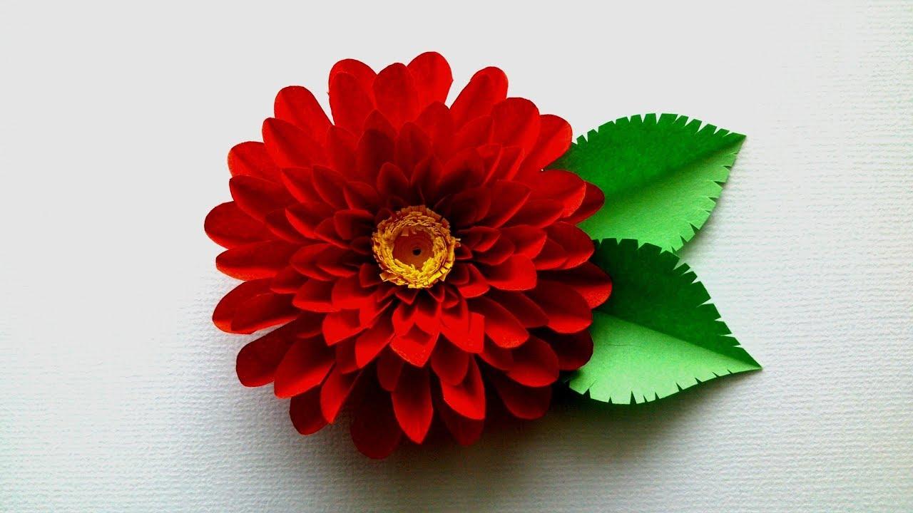 Aster Flower From Paper Aster Flower Diy Youtube