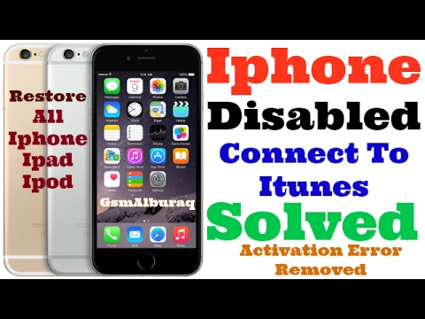 iphone disabled connect to itunes youtube