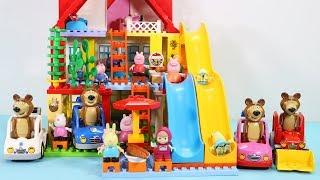 Peppa Pig Blocks Mega House Toys For Kids - Lego Duplo House With Water Slide Construction Sets #5