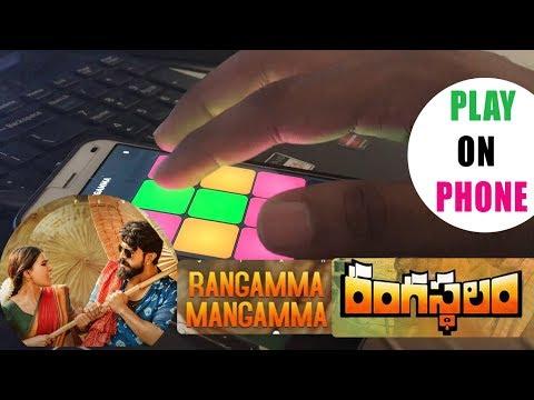 Playing Rangamma MangammaSong By MM Manasi on PADS || Rangasthalam Songs || Ramcharan,Samantha