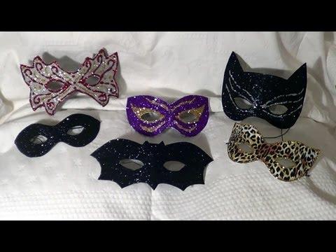 DIY -  Máscaras de Carnaval e Halloween - Carnival and Halloween masks