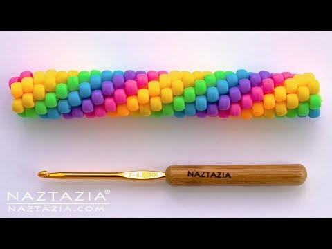 How to Crochet a Beaded Rope - Tubular Bead Crocheted Ropes by Naztazia
