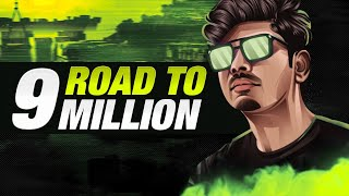PUBG MOBILE LIVE WITH DYNAMO & HYDRA SQUAD | ROAD TO 9 MILLION YOUTUBE FAMILY