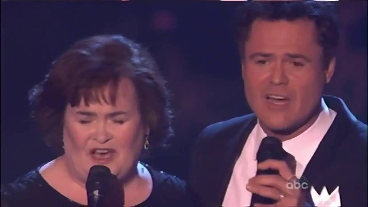 Susan Boyle Susan And Donny Osmond Performance Dancing With The