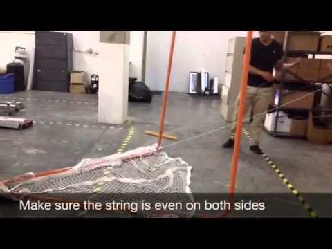 Gladiator Lacrosse Goal Net Assembly Video