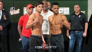 RYAN GARCIA VS. JOSE LOPEZ - FULL WEIGH IN & FACE OFF VIDEO