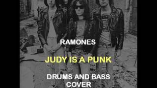 Ramones - Judy Is A Punk (Drums And Bass Backing Track Cover)
