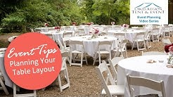 Creating a Table Layout for Weddings & Events