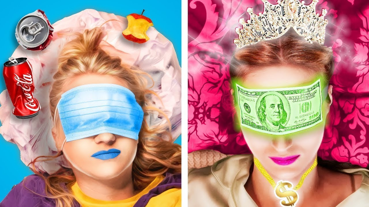 Rich Unpopular VS Poor Popular Girl || Back To School, Student Life By Crafty Panda