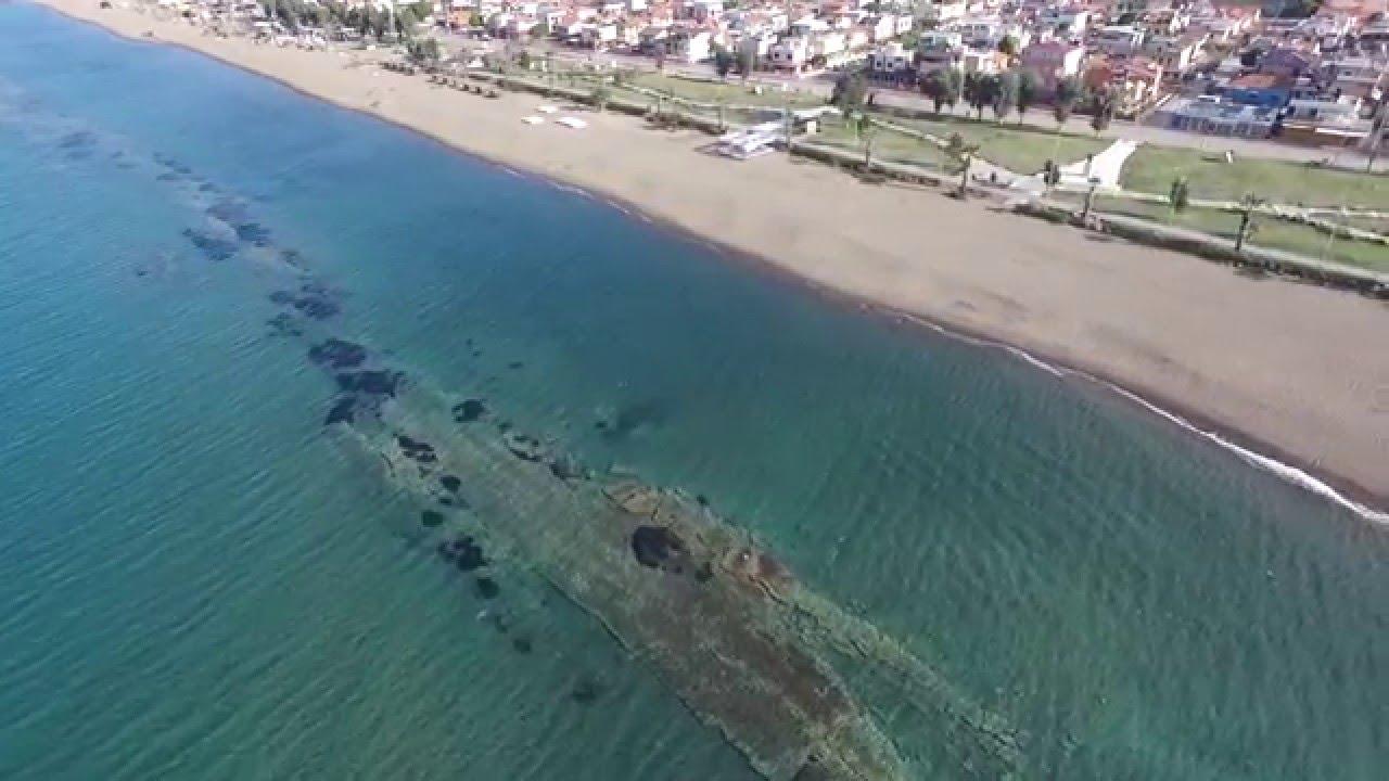 Izmir Dikili Mavi Bayrak Plaji Drone Video By Dikili Lovez Youtube