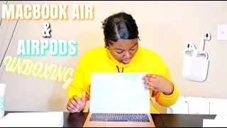 MACBOOK AIR  & AIRPODS UNBOXING AND SETUP