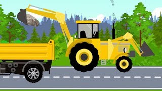 Tractor or Excavator or Bulldozer | What vehicle? Construction #machinery for children - cartoon