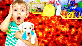 Пол это лава ЧЕЛЛЕНДЖ Руслан играет the floor is lava  | Ромарики