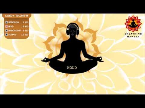 Guided Breathing Mantra (5 - 15 - 5 - 15) Pranayama Yoga Breathing Exercise (Level 4 - Volume 48)