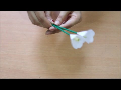 DIY - Paper Lily Flower | How To Make Paper Lily Flower