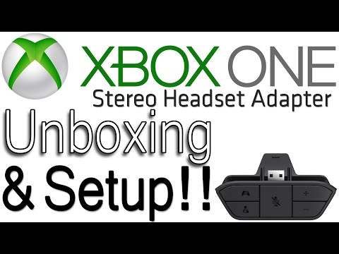 Xbox One Stereo Headset Adapter Unboxing & Setup!!