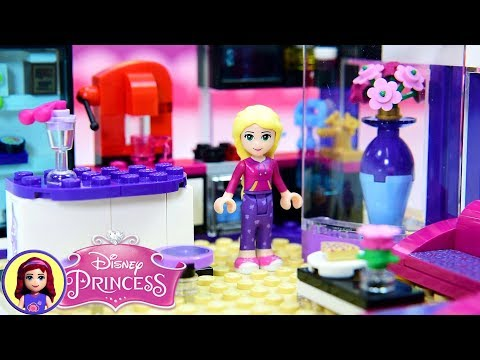 Rapunzel's Modern Day Princess Apartment - Custom Lego Build DIY Dollhouse Craft Part 1