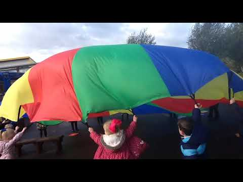 Parachute Fun in Reception