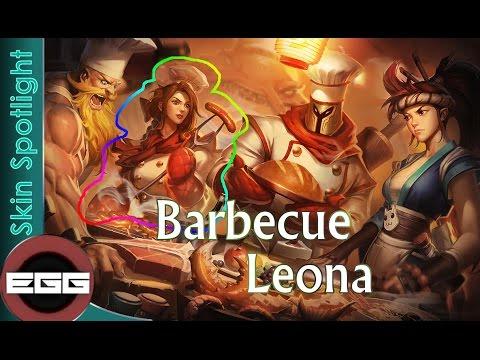 League Of Legends Skin Review Barbecue Leona Skin Spotlight Youtube