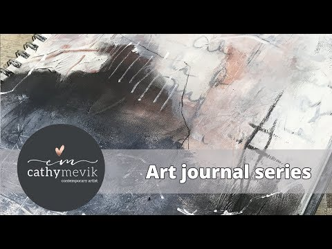 Art journal series – An intuitive abstract landscape painting