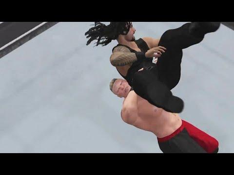 WWE 2K15 WrestleMania 31 simulation: Brock Lesnar vs. Roman Reigns