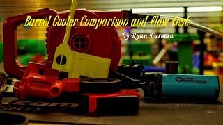 Rifle Barrel Cooler Performance Flow Test and Comparison