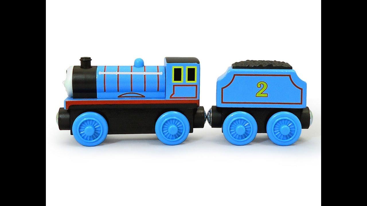 Thomas et ses amis thomas le train en bois douard la locomotive bleue jouet youtube - Train thomas et ses amis ...