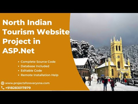 Tourism Website Project (Travel Tour Booking Website) - ASP.Net with Sql Server