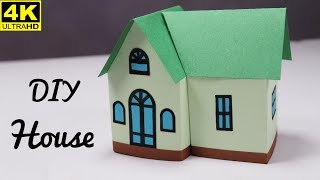 Diy Beautiful Paper House || How To Make A Paper House Very Easy || Easy Craft