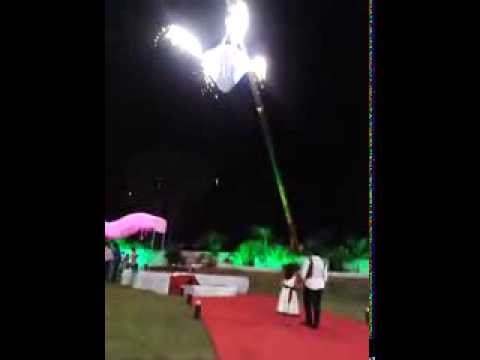 Newly Married Husband wife terrible accident on their reception Travel Video