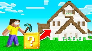 LUCKY BLOCKS Give YOU RANDOM HOUSES In MINECRAFT!
