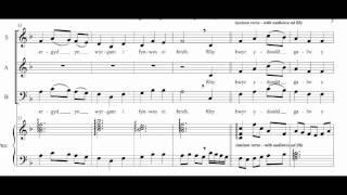 Medley of British Folk Songs - Llwyn Onn (The Ash Grove) for SAB choir and piano .wmv